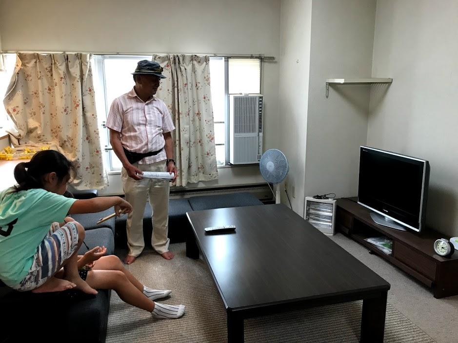 湯沢リゾートマンション2軒目:家具付きリビング