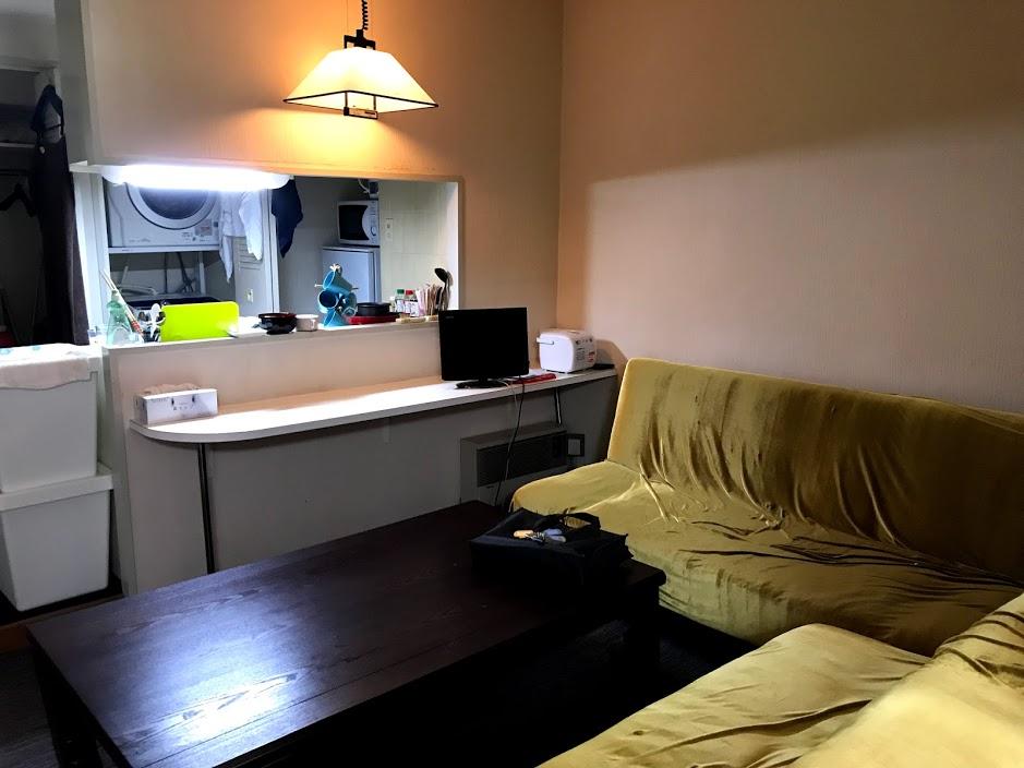 湯沢リゾートマンション3軒目:家具付きの部屋