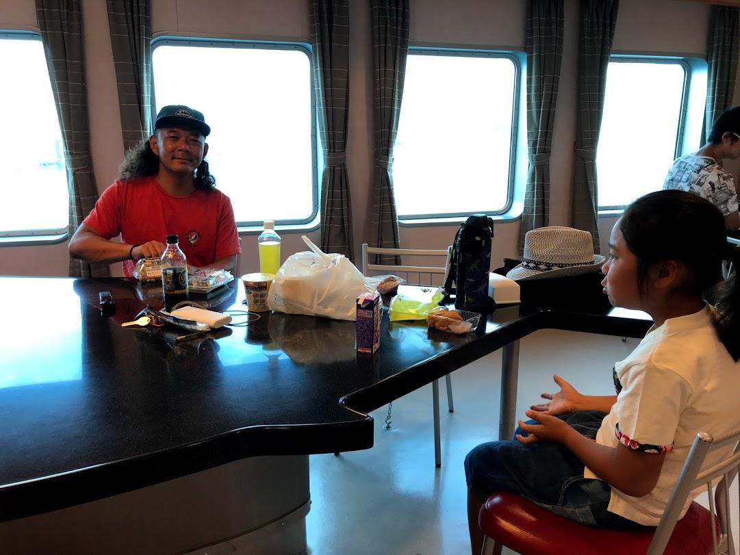 北海道一周車中泊の旅 2日目 青森 津軽海峡フェリー船内