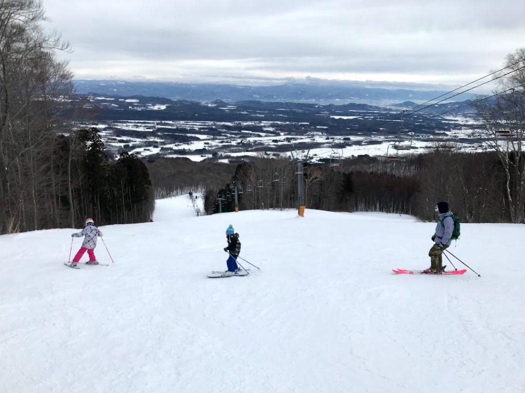 家族一緒にスキー