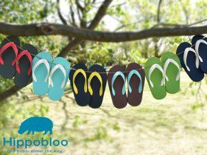 ビーチサンダル 子供用 マシュマロのように柔らかい天然生ゴム 植物由来 ヒッポブルー(hippo bloo)