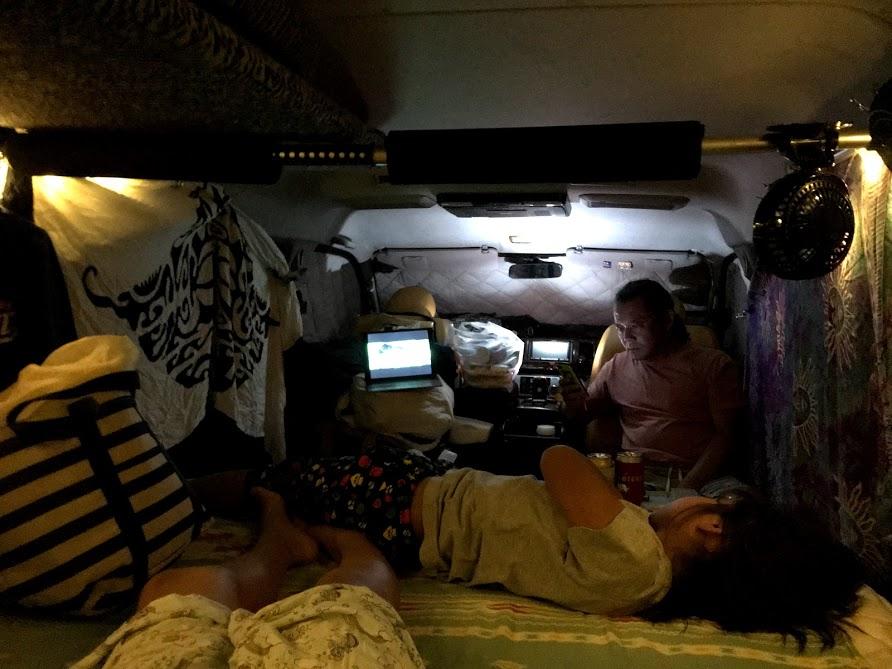 北海道車中泊旅、夜は車を締め切って寝るほど冷え込む