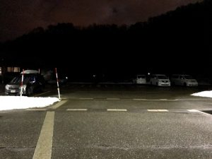 道の駅みつまたの駐車場・混み具合