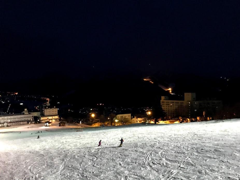 岩原スキー場 1月14日 ナイター