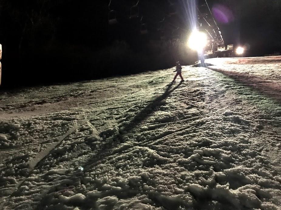 1月14日 岩原スキー ナイター