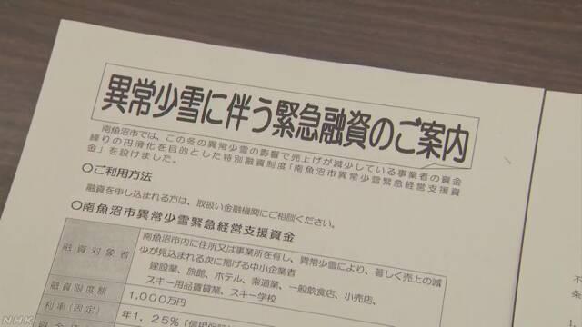 新潟県南魚沼市 緊急融資資料