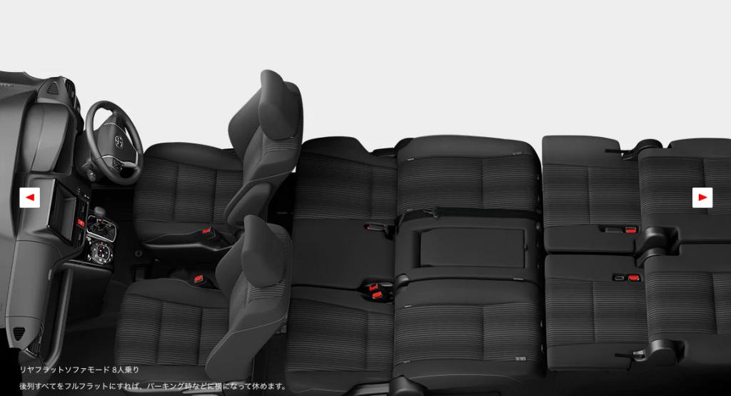 車中泊に適した車:トヨタ VOXY