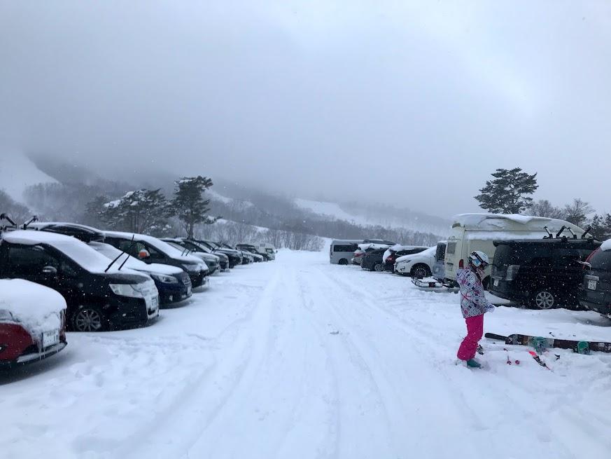 斑尾高原スキー場 駐車場