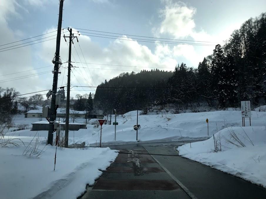 馬曲温泉までの道路状況