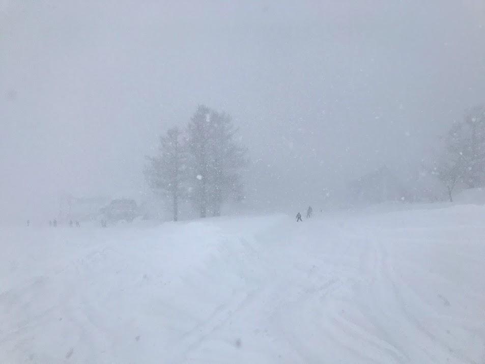 野沢温泉スキー場 ドカ雪の日