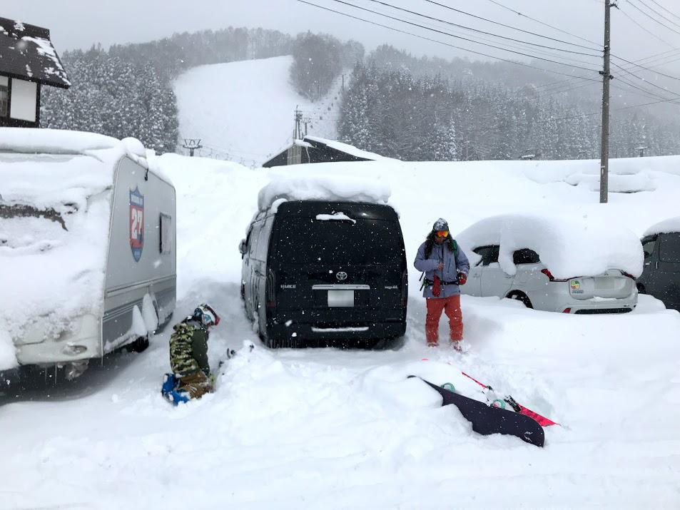 野沢温泉スキー場 第二駐車場