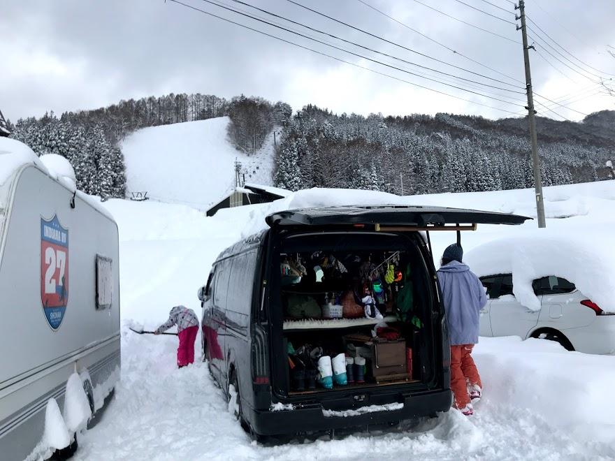 車中泊で県外のスキー場へ足を伸ばすことも