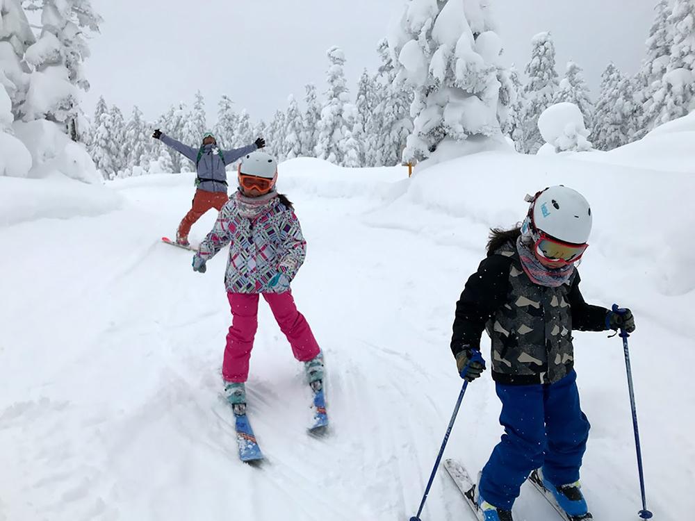 子供が一番夢中になったのがスキーだった