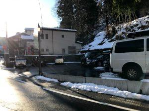 松之山温泉の駐車場について
