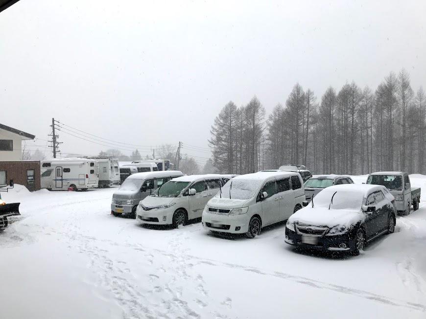 戸隠スキー場 駐車場の状況