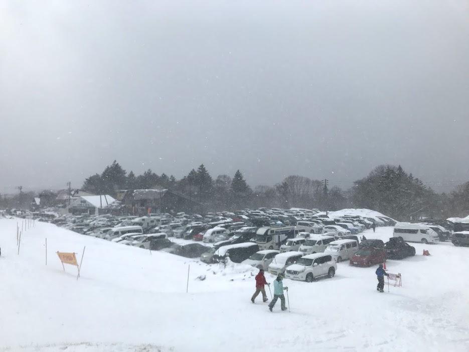 戸隠スキー場 駐車場