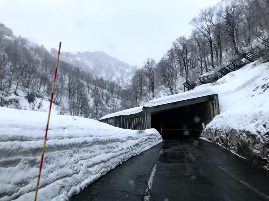 スキー場までの道路状況