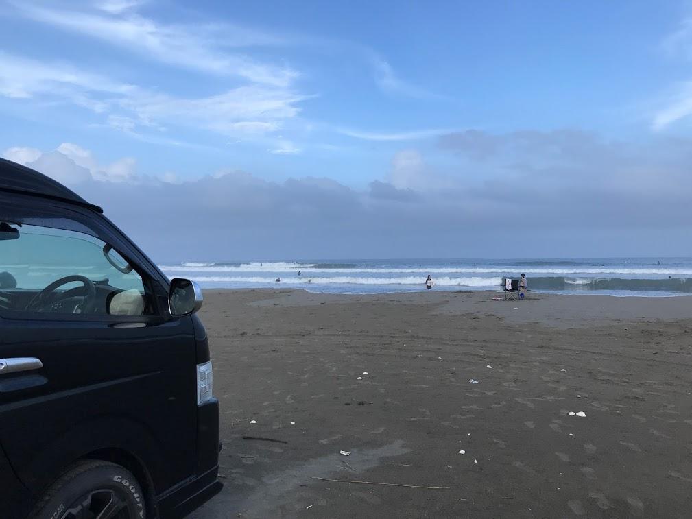 北海道一周車中泊旅8日目:大洗に到着するや否やサーフィンでビーチ直行