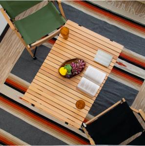 レジャーテーブル ロールテーブル 折りたたみ 幅 90cm 木製 ウッド