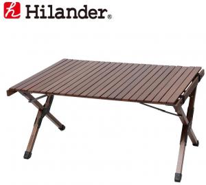 Hilander(ハイランダー) ウッドロールトップテーブル2 90 ダークブラウン HCA0219