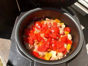 庭キャンプ 昼食メニュー2:炊飯器でできるチキンピラフ