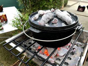 庭キャンプ 夕食メニュー1:ローストスペアリブ