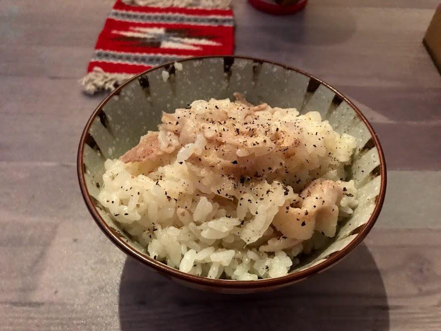 夕食メニュー5:炊飯器でできる豚バラねぎご飯