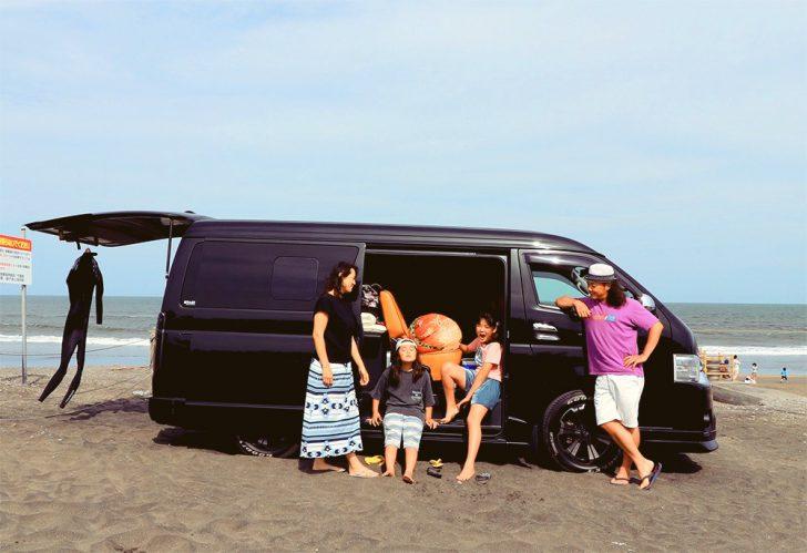 車中泊に適した車種ハイエース!家族4人で9日間の快適な車中泊旅が可能