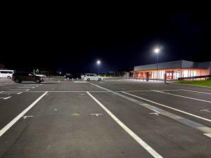 「道の駅恐竜渓谷かつやま」車中泊 駐車場の様子