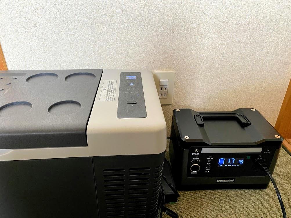 Phewmanポータブル電源:ポータブル冷蔵庫のみではどのくらい使えるか