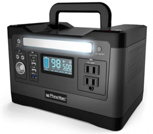 PhewMan ポータブル電源 静音設計 大容量 正弦波 家庭用蓄電池 (500W / 540Wh / 150,000mAh)