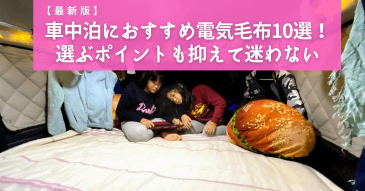 【最新版】車中泊におすすめ電気毛布10選!選ぶポイントも抑えて迷わない