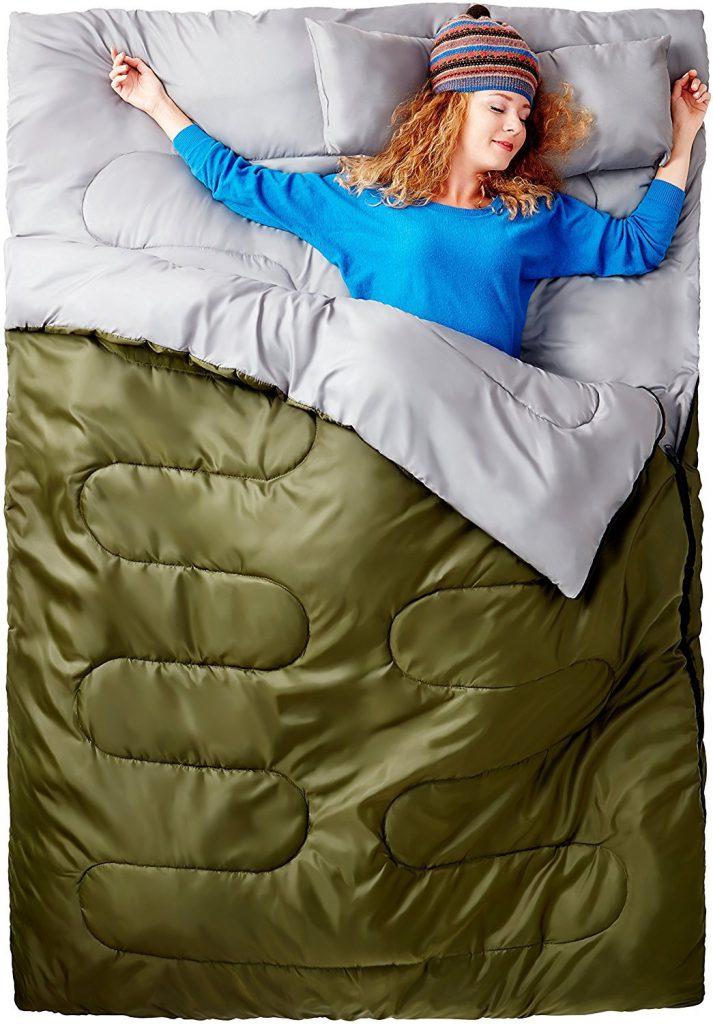 冬の車中泊寝袋の選び方:封筒型