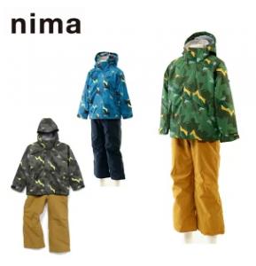 スキーウェア 上下セット 90~120cm キッズ 幼児 男の子 ボーイズ スノーウェア サイズ調整機能付き トドラー JR-9053 ニーマ(nima)