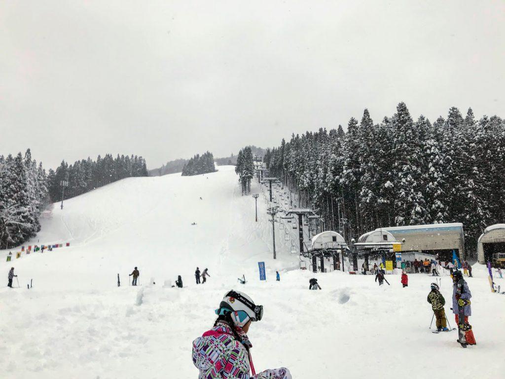 湯沢中里スキー場から湯沢高原スキー場へハシゴ
