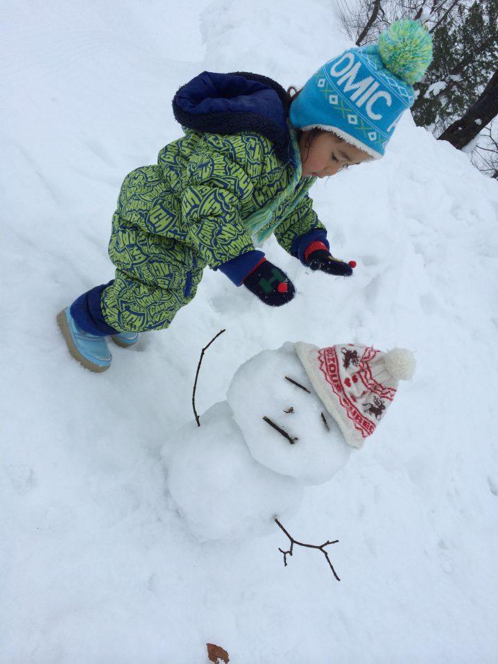 雪で遊ぶ楽しさを伝えるのも大事