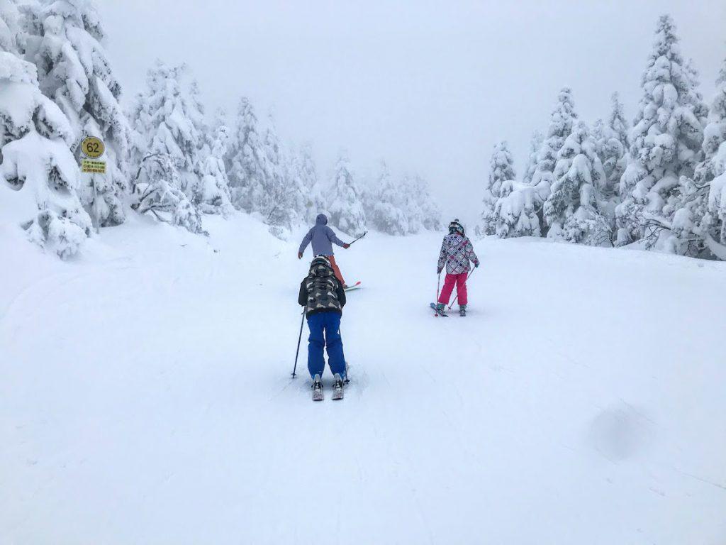 目立つ色のスキーウェアを選ぶ