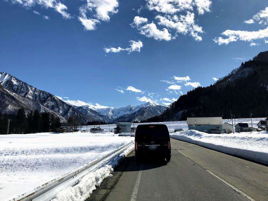 2020年湯沢内の道路の積雪状況