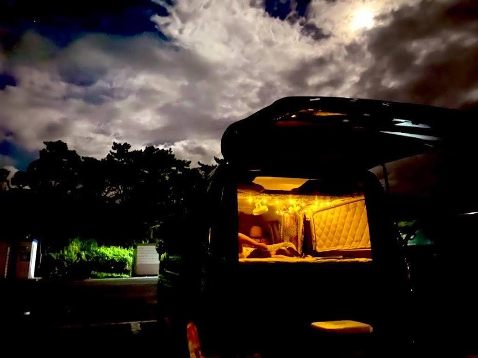 車中泊の楽しみ方3:キャンプの代わりに車中泊で身軽に泊まる