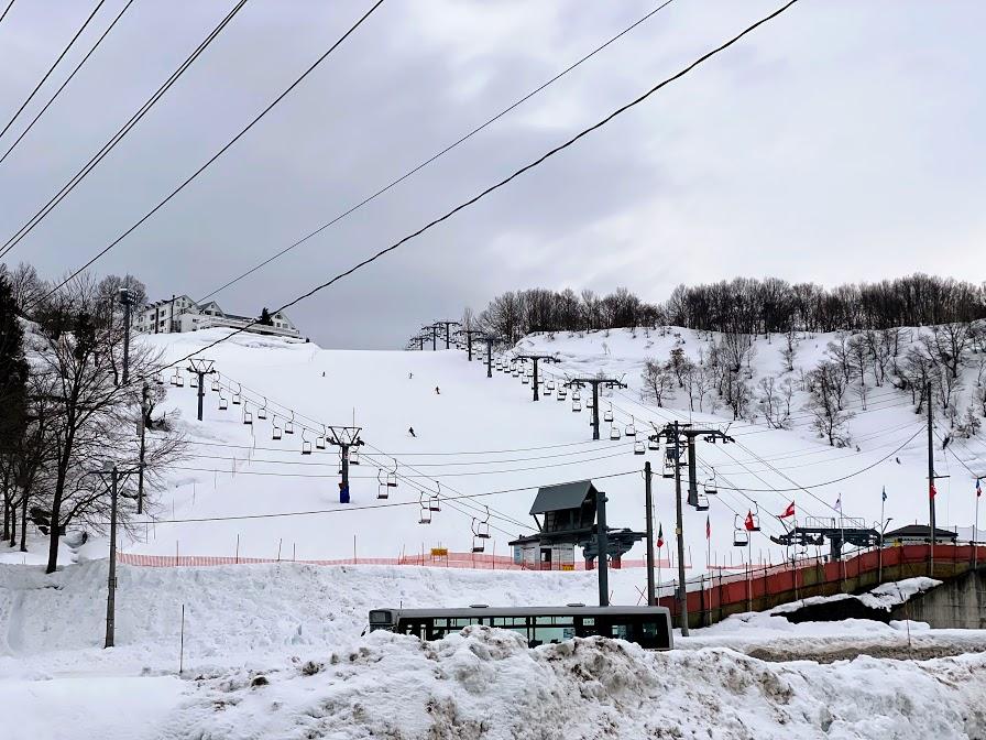 2020年12月の岩原スキー場 積雪の様子