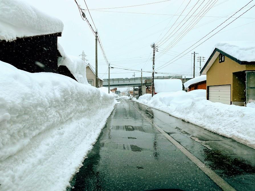 2021年道路の積雪状況