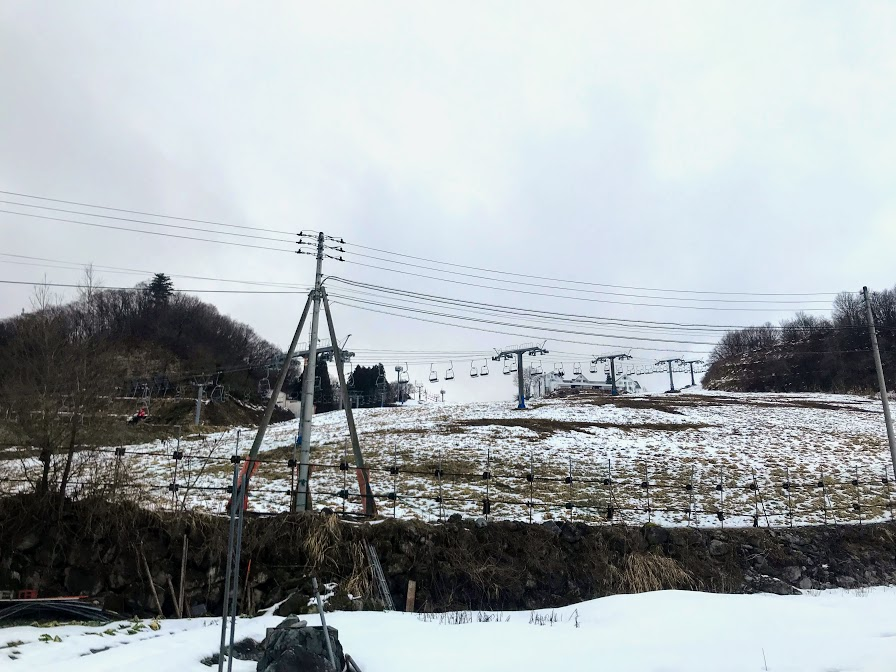 2020年2月の岩原スキー場 積雪の様子