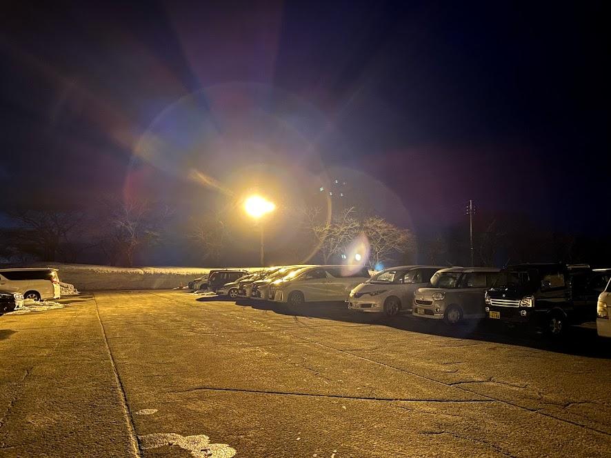 津南スキー場車中泊 駐車場の状況