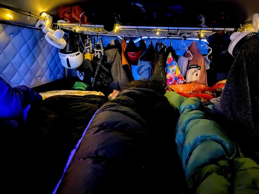 スキー車中泊での寒さ対策