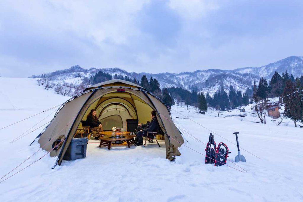 松之山温泉 冬キャンプ