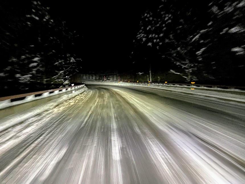 志賀高原車中泊 スキー場までの道路状況