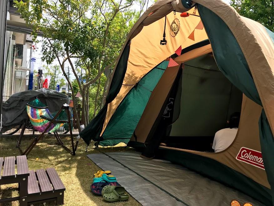 キャンプ用のテントは海には不向き